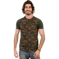 Camiseta Gnose Estampa Palmeira Verde