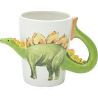 Caneca Stegosaurus- Branca & Verde- 300Ml- Bon Gbon Gourmet