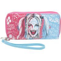 Carteira Harley Quinnâ®- Rosa & Azul- 10,5X19,2X2,5Cmurban