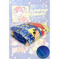 Cobertor Solteiro Lepper Patrulha Canina Menino Dupla Face Azul 1,55 X 2,20
