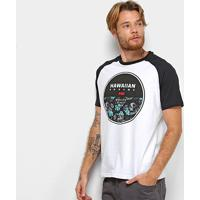 Camiseta Hd Raglan Darkest Masculina - Masculino-Branco