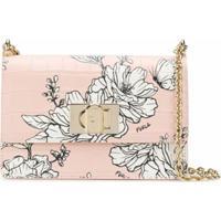Furla Bolsa Tiracolo Floral Pillow - Rosa
