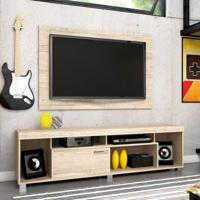 Rack Com Painel Para Tv 55 Polegadas Tomaz Rústico