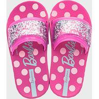 Chinelo Infantil Slide Glitter Barbie Ipanema 26162