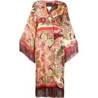 Etro Paisley Print Kimono Coat - Vermelho