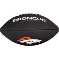 Bola De Futebol Americano Wilson Nfl Team Jr Denver Broncos Edition Black - Unissex