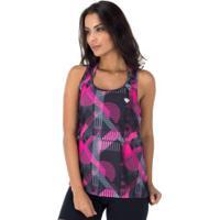 Camiseta Regata Colcci Estampada - Feminina - Preto/Rosa