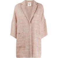 Semicouture Casaco De Tweed Com Abotoamento Único - Rosa