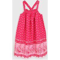 Vestido Gap Infantil Floral Rosa