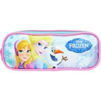 Estojo Duplo Disney Frozen - 60222 | Cor: Azul Ciano