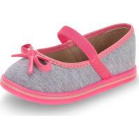 Sapatilha Infantil Baby Molekinha - 2132102 Cinza/Rosa 20