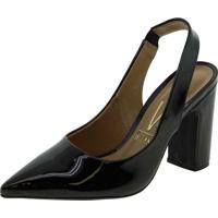 Sapato Feminino Chanel Vizzano - 1285103 Verniz/Preto