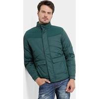 Jaqueta Fila Pad Fleece Masculina - Masculino-Verde