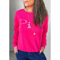 Blusa Moletom Colors - Pink