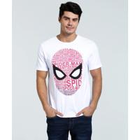 Camiseta Masculina Estampa Homem Aranha Marvel
