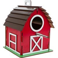 Casinha De Cuco Celeiro- Vermelha & Marrom- 17X22X21Carlu Pet