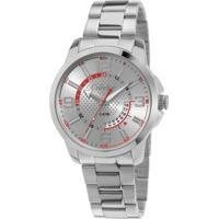 ... Relógio Condor Coleção Speed - Masculino-Prata+Vermelho af8182dcd6