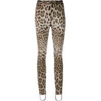 Dolce & Gabbana Legging Em Animal Print - Estampado