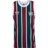 Camiseta Regata Do Fluminense I 2020 Basquete Umbro - Masculina - Vinho/Verde