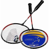 Kit Badminton Gold Sports 2 Raquetes E 2 Petecas - Unissex