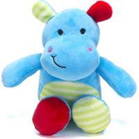 Chocalho De Pelucia Unik Toys Hipopotamo Azul