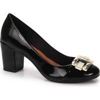 Sapato Salto Feminino Bruna Rocha - Preto