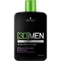 Schwarzkopf Professional 3D Men Root Activator - Shampoo 250Ml - Masculino-Incolor
