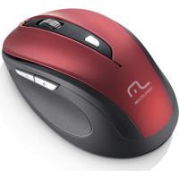 Mouse Sem Fio 1600Dpi Usb 6 Botões Preto E Vermelho