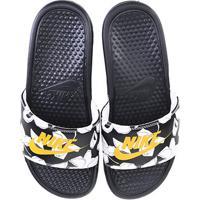 Chinelo Nike Benassi Jdi Print Masculino - Masculino-Preto+Amarelo