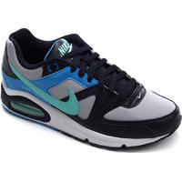 Tênis Nike Air Max Command Masculino - Masculino-Cinza+Azul Claro