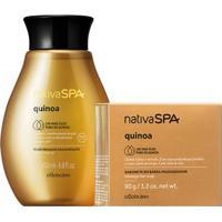 Combo Nativa Spa Quinoa: Sabonete Em Barra + Óleo Hidratante Corporal