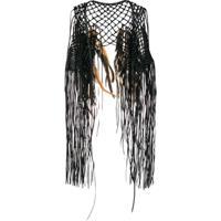 Caravana Coyopa Embellished Knitted Vest - Preto