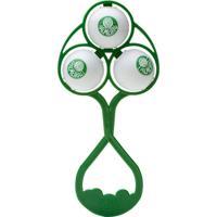 Chocalho Palmeiras Lolly Baby Branco E Verde