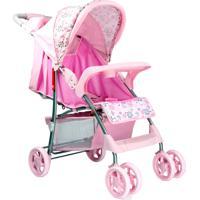 Carrinho De Bebê Esmeralda Baby Style Rosa - Tricae
