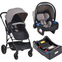 Carrinho Bebe Travel System Burigotto Convert Touring Evolution X Capuccino Com Base