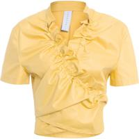 Blusa Feminina Franzida - Amarelo