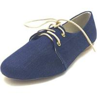 Oxford Dani K Jeans Feminino - Feminino-Azul