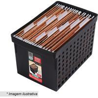 Arquivo Com Recortes Vazados- Preto- 27,1X43X27,4Cm