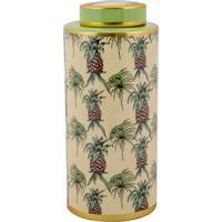 Vaso Decorativo De Porcelana Salvaterra - Linha Pineapple