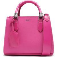 Mini Tote Lorena Strap Neon Pink   Schutz
