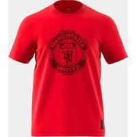 Camiseta Manchester United Adidas Gráfica Masculina - Masculino-Vermelho