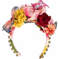 Dolce & Gabbana Headband Com Aplicação Floral Vermelho
