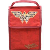 Lancheira Wonder Woman®- Vermelha & Dourada- 26X19X1Urban