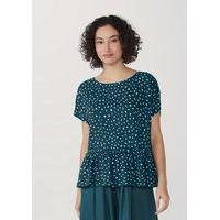 Blusa Feminina Estampada Em Tecido Texturizado Mini Me
