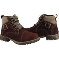 Bota Coturno Bell Boots Couro Macia Casual Conforto Dia A Dia Bordô - Kanui