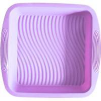 Forma De Silicone Quadrada Lilás 22 X 22 X 5 Cm