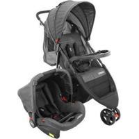 Carrinho De Bebê Com Bebê Conforto Cosco - Unissex-Preto