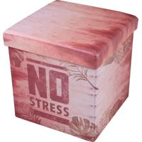 Puff Baú Quadrado Com Tampa No Stress