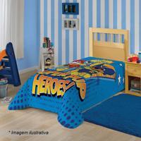 Manta Fleece Solteiro Patrulha Canina®- Azul & Amarela