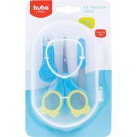 Kit Manicure Baby Azul E Amarelo - Buba